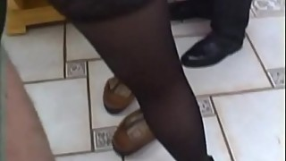 French woman gangbanged stockings