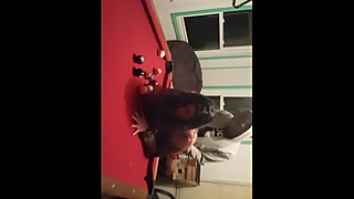Wife taking a big black cock pool table