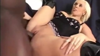 Milf blonde wife in boots fucked hard like a whore big cock