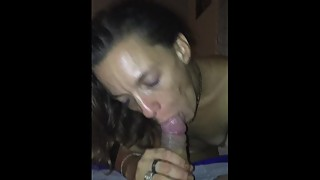 My wife sucking my cock in buddys