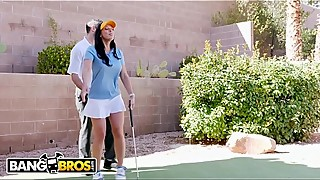 Bangbros - rachel starr fucking her golf teacher, while her cuck one man reads a book