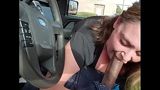 (p), the wife of a cheater, loves slobbing on a big black cock stick in the white day