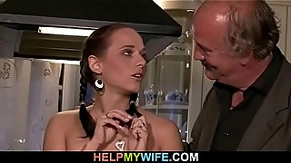 Wife old man watch fuck