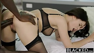 A young british woman in love with a big black cock.