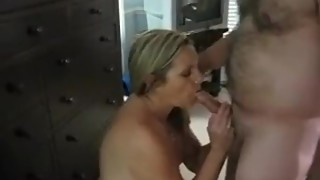 My wife's neighbors to play with my dick