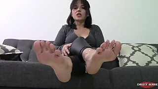 The feet are better than your wife, a *the foot of the cuckold blackmail, humiliation*