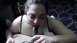 Big black cock in her mouth, why smoke a blunt