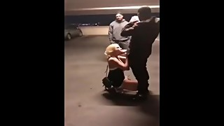 White woman sucks big black cock in public, while the cuckolded husband data