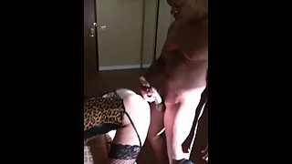 My husband video big black cock fuck wife dog and came on her ass