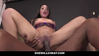 Shewillcheat - asian wife drilled by photographer big black cock