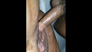 Thrill woman juicy black pussy squirtin