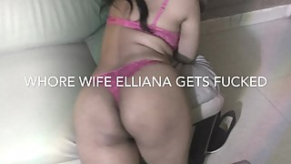 Whorewife elliana z rides a new cock while husband films