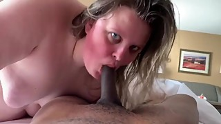 In the morning, after a big black cock bareback breeding of my wife bbw