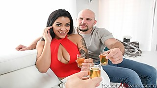 Sharing the hot latin wife with a good friend
