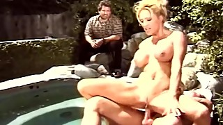 Blond swinger wife outside fuck a total stranger