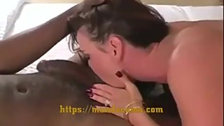 Horny white wife loves big black cock