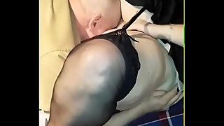Bbw wife fucks old man in his cabin. husband of video.
