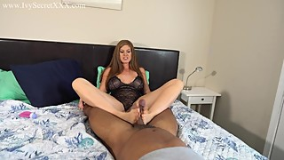 The adultery of the woman gives a cock footjob - ivy secrets