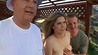Cheating wife fucked in the outdoors