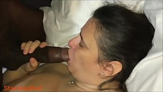 Comfortable in front of her husband, woman, anal big black cock.