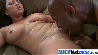 Interracial sex video with a very hard cock in wet milf video-04