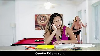 Horny milf boss fucks her office mates
