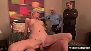 Oversexed wife gets fucked and a facial, you
