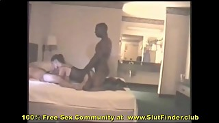 Dick wife swallow her husband, while he hammered his huge black dick