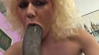 Blonde loves big black cock in mouth and pussy
