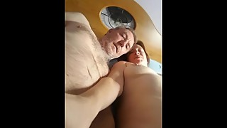 Talking to the wife, as her friend finger pussy wet