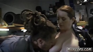 Amateur wife drinks black and cuckold anal garage owner with