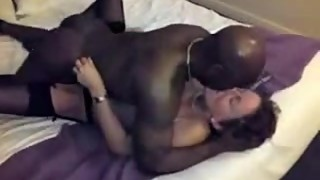 Black bulls impregnating white passionate mother-in-law, while the husband films