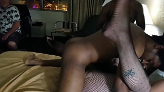 We are gangbanged to his hotwife and make her cum hard for him.