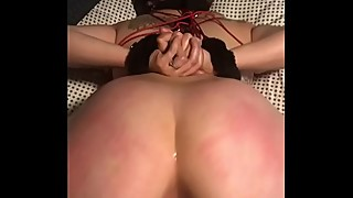 Wife big black cock pawg slut tied up and fucked by a dildo