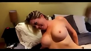 The woman takes a big black dick