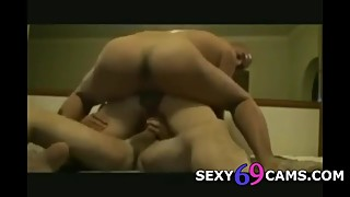 My wife in dp threesome with a friend of mine
