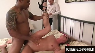Helpless cuckold must watch black cock drill his wife amanda blow