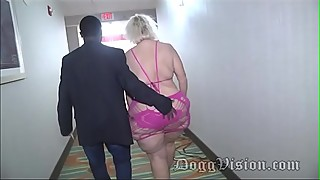 Gilf 56y amber connors in hotel staircase