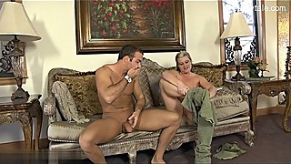 Busty wife in a very brutal gang shooting