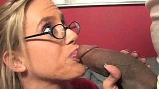 Big tit mom sucks big black cock
